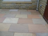 Yorkshire stone after Mossaway cleaning, Eckington, South Yorkshire.